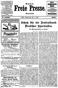 Die neue freie presse vienna austria