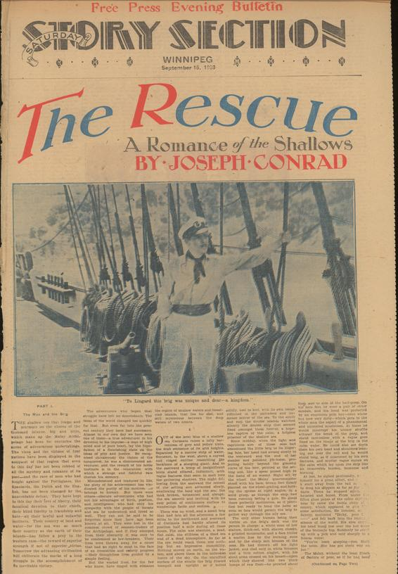 Conrad First The Rescue A Romance Of The Shallows In The Manitoba
